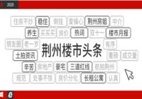2020年荊州樓市熱詞,你更pick哪一個?