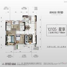 碧桂园·央玺YJ105户型图
