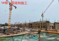 信達·江城壹品工期進度丨1#、2#、3#、5#樓結構施工