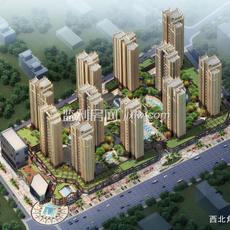 濱江未來城鳥瞰圖