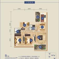书香门第B户型(1/2/3/5/6/7/10/1户型图