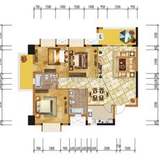 洪湖购物公园7-A1户型户型图