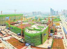 荆州中心医院荆北新院项目部分主体结构已封顶