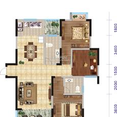 汉帝融城三居户型2户型图