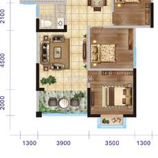 汉帝融城三居户型3户型图