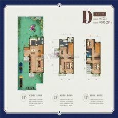 联投国际城丨云玺湾项目别墅D双拼户型户型图