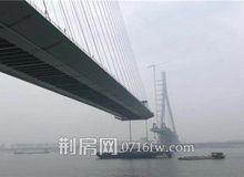 石首长江大桥安装主桥钢箱梁 预计年底主桥合龙