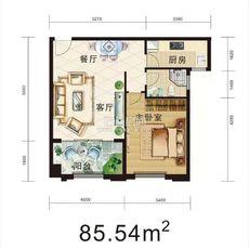 星辰公馆85.54m²户型户型图