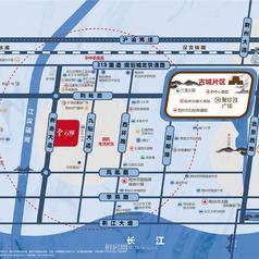 荆州世茂长投云锦区位图