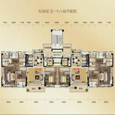 石首碧桂园利达城YJ140户型图