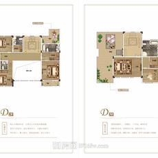 荆州海洋世界海墅湾D型户型图