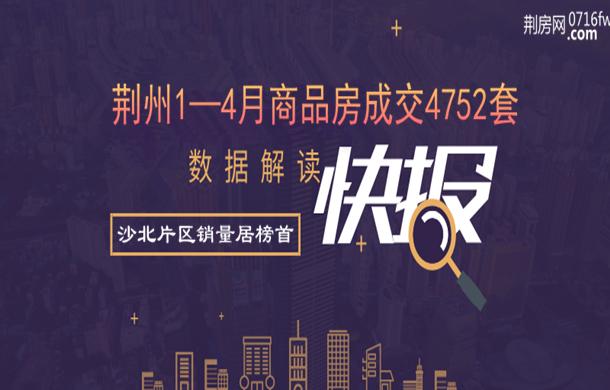 2019年1—4月商品房住宅成交4752套!