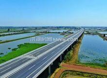 洪监高速公路新滩至洪湖互通段已初具雏形