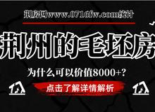 荆州的毛坯房为什么可以价值8000+?