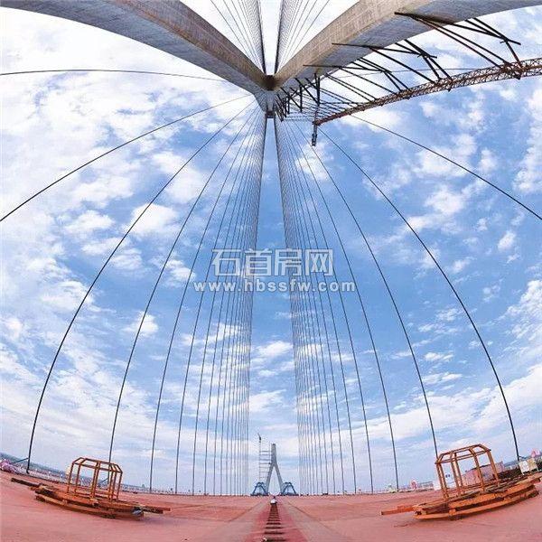 石首長江大橋通車進入倒計時 預計9月全線竣工
