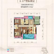 鼎仁·御景首府A1标准层户型图