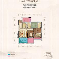 鼎仁·御景首府A2标准层户型图
