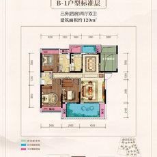 鼎仁·御景首府B1标准层户型图