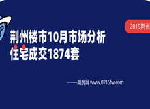 荊州樓市10月市場月報:住宅成交1874套