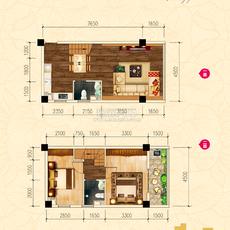 新概念大廈·城心精裝復式公館C戶型戶型圖