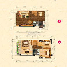 新概念大厦·城心精装复式公馆G户型户型图
