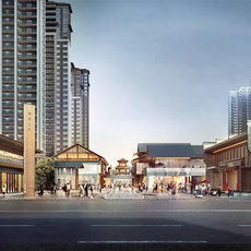 中建荆州之星商业街项目效果图