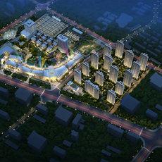 荆州海洋世界•海棠湾项目鸟瞰图