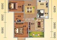 石首嘉禾广场2#B户型89.19平米家居装修效果图