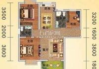 石首嘉禾广场3#A户型109.44平米家居装修效果图