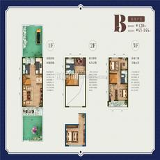联投国际城丨云玺湾--项目别墅B联排户型