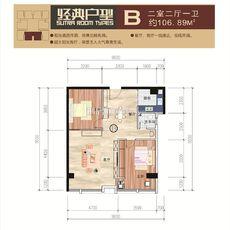 荆州百盟光彩商贸城B户型户型图