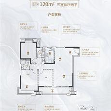 世茂云筑滨江览江奢境户型图